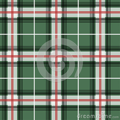 Vector illlustration of green tartan fabric patter