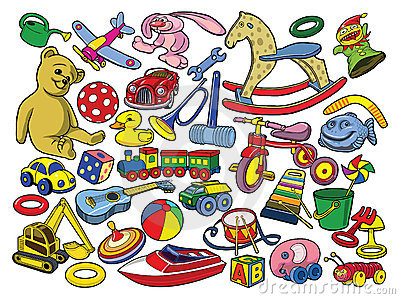 Vector illustration of hand drawn toys