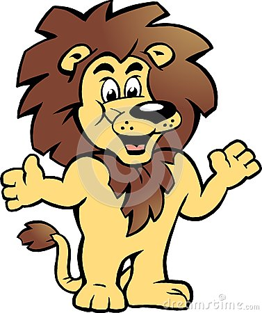 Vector illustration of an Happy Proud Lion King
