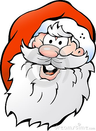 Vector illustration of an Happy Smiling Santa