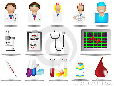 Vector illustration hospital icons