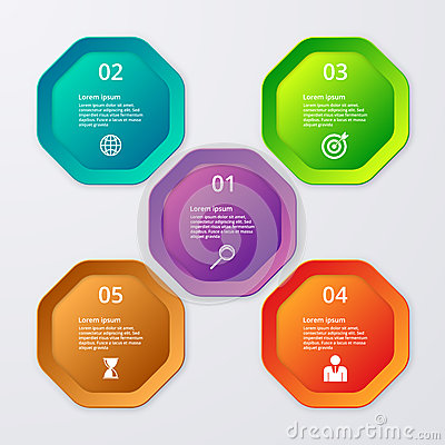Free Vector Illustration Infographics Of Octagons Stock Images - 56895244