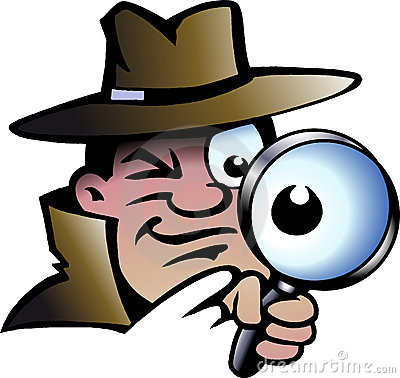 Vector illustration of an Inspector Detective