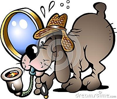 Vector illustration of an Inspector Dog