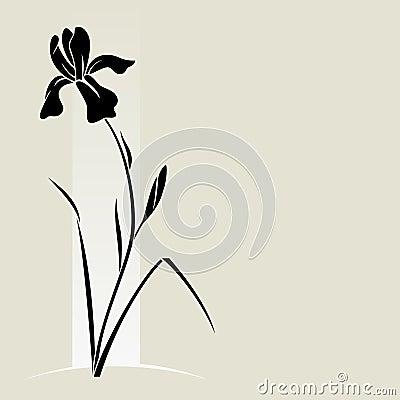 Vector iris flower.