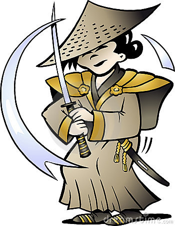 Vector illustration of an Japanese Samurai