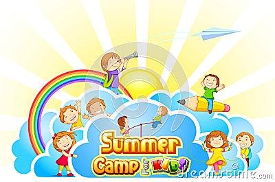 Summer Camp For Kids Stock Image - Image: 30148111