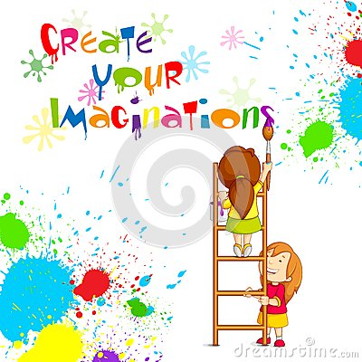 Kids Painting Competition Poster Royalty Free Stock Photography Image 30148697