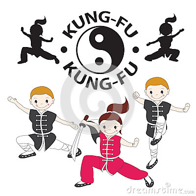 Vector illustration of  kung fu