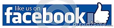 Like us on facebook banner Vector Illustration