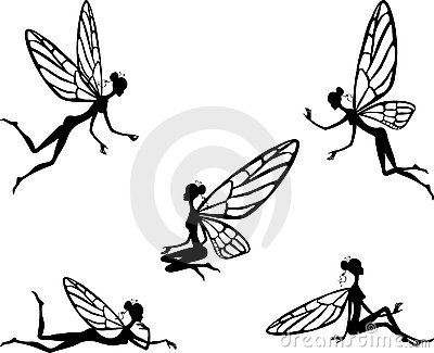 Vector illustration of little fairy