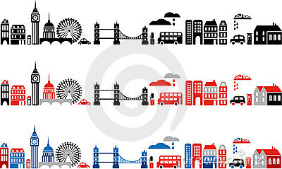 Vector illustration of London city - 2