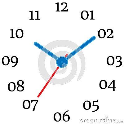 Vector illustration of mechanical clock. Vector Illustration