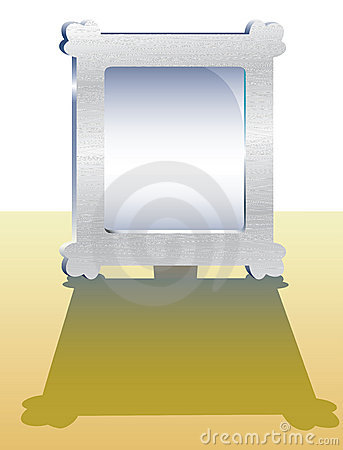 Vector illustration of metal frame.
