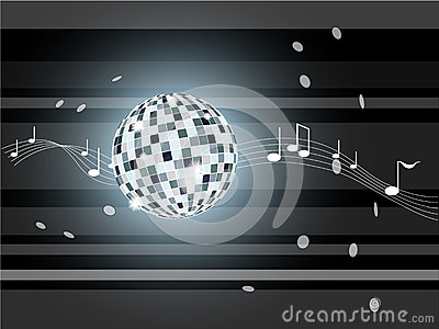 Vector illustration with mirror ball.