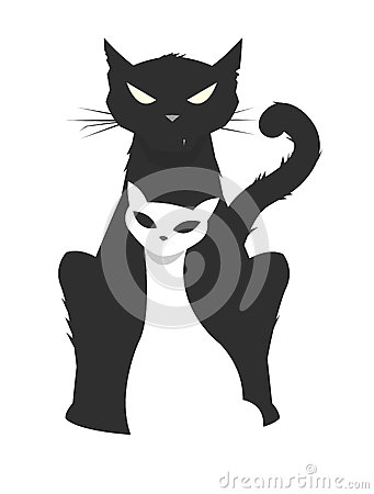 Free Vector Illustration Of A Brutal Male Cat Protecting His Fragile Royalty Free Stock Photo - 31595835
