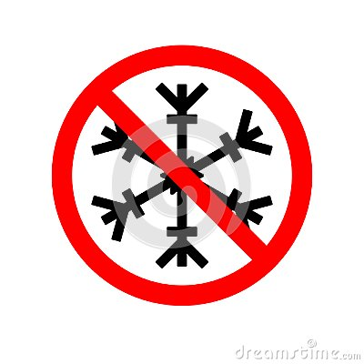 Free Vector Illustration Of A Forbidden Signal With A Snow Flake. Red Prohibitory Sign. No Snowflake. No Frozen. Stop Symbol Royalty Free Stock Image - 108250576