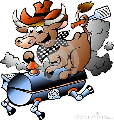 Free Vector Illustration Of An Cow Riding A BBQ Barrel Stock Photography - 28622452
