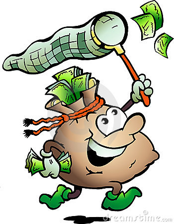 Free Vector Illustration Of An Money Sack Hunting Cash Stock Photo - 20447860