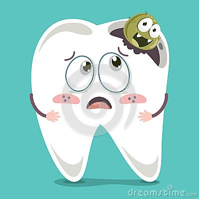 Free Vector Illustration Of Cartoon Tooth Royalty Free Stock Image - 117304696