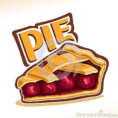 Free Vector Illustration Of Cherry Pie Stock Image - 104664321