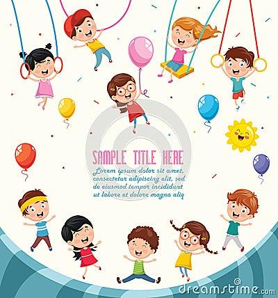 Free Vector Illustration Of Children Swinging Stock Image - 120512191