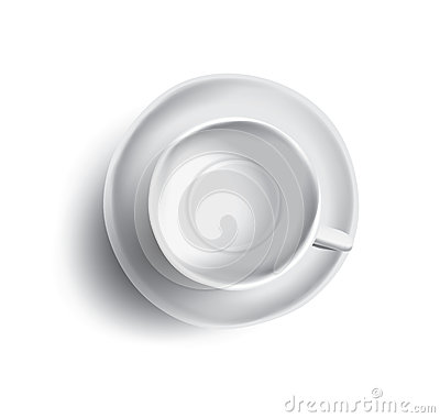 Free Vector Illustration Of Empty Cup Of Tea Or Coffee, Top View Royalty Free Stock Photo - 91309345