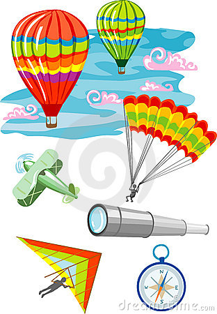 Free Vector Illustration Of Flying Objects Stock Image - 9644171