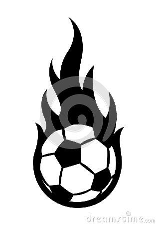Free Vector Illustration Of Football Soccer Ball With Simple Flame Sh Royalty Free Stock Image - 119953776