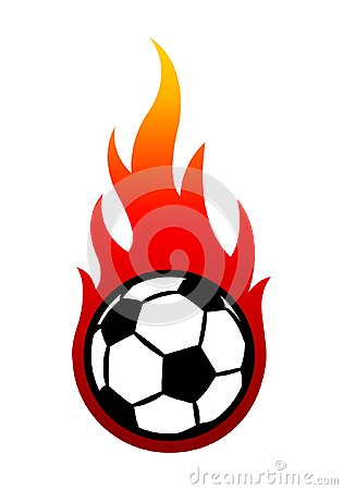 Free Vector Illustration Of Football Soccer Ball With Simple Flame Sh Royalty Free Stock Image - 119953786