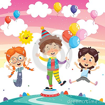 Free Vector Illustration Of Funny Clown Royalty Free Stock Photos - 122338428