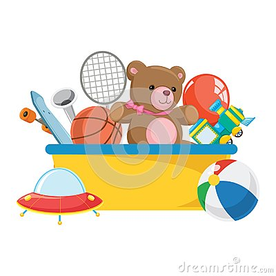 Free Vector Illustration Of Kids Toys Stock Photography - 119336542