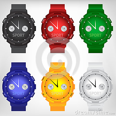 Free Vector Illustration Of Modern Wristwatch Stock Photography - 56195172