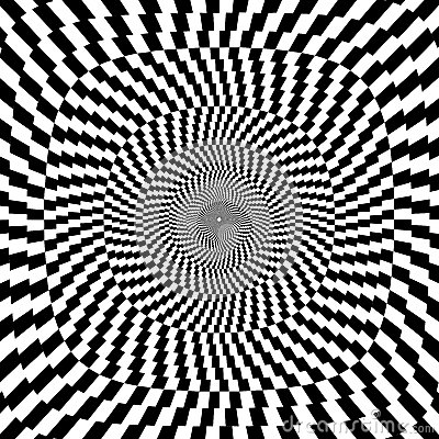 Free Vector Illustration Of Optical Illusion Black And White Background Stock Photo - 30154180