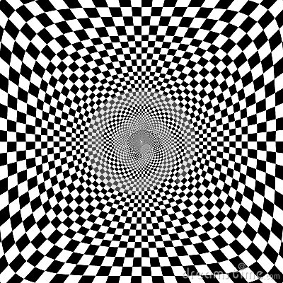 Free Vector Illustration Of Optical Illusion Black And White Chess Background Stock Photos - 30154223