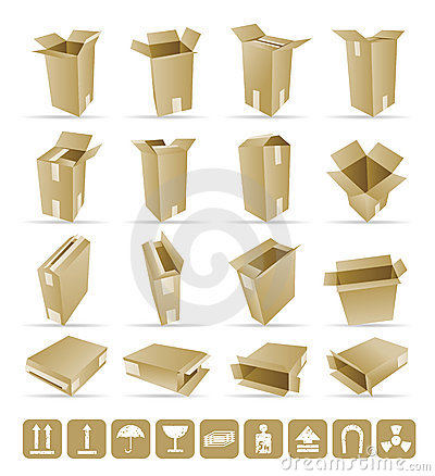 Free Vector Illustration Of Shipping Box Royalty Free Stock Photo - 11477175