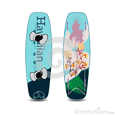 Free Vector Illustration Of Two Sides Of Wakeboard In Flat Style Royalty Free Stock Images - 91417839