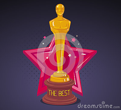 Free Vector Illustration Of Yellow Cinema Award With Red Big Star  Royalty Free Stock Photography - 66135107