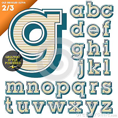 Vector illustration of an old fashioned alphabet