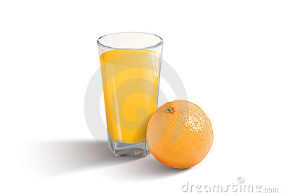 Vector illustration of the orange juice