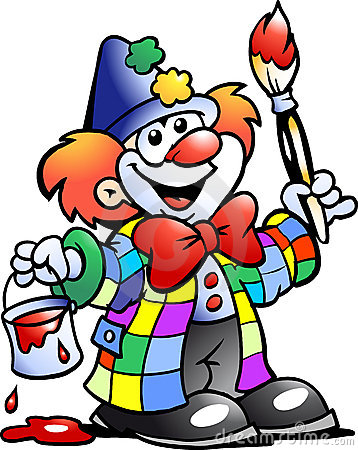 Vector illustration of an Painting Clown
