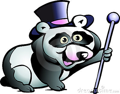Vector Illustration Of An Panda Bear Stock Images - Image: 20860534