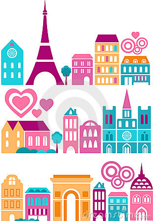Vector illustration of Paris landmarks