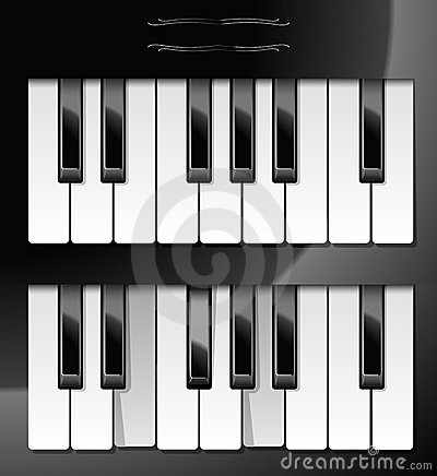 Vector illustration of piano keys