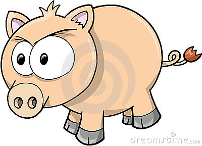 Vector Illustration of Pig