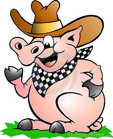 Vector illustration of an Pig Chef that Welcomes