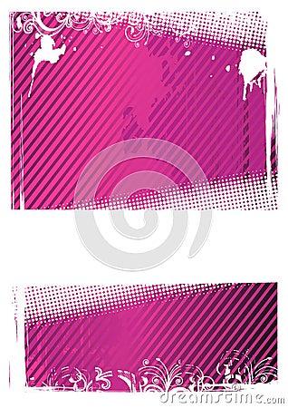Vector illustration of pink grunge wallpaper