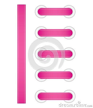Pink lacing
