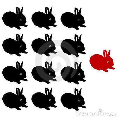 vector Illustration of the rabbits group