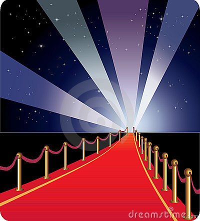 Vector illustration of red carpet.